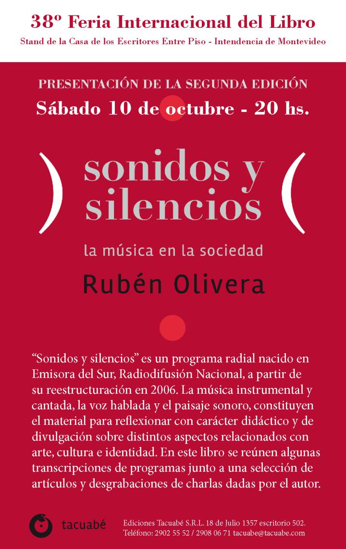 Rubén Olivera. Presentación Sonidos y silencios. Segunda edición. Mail2