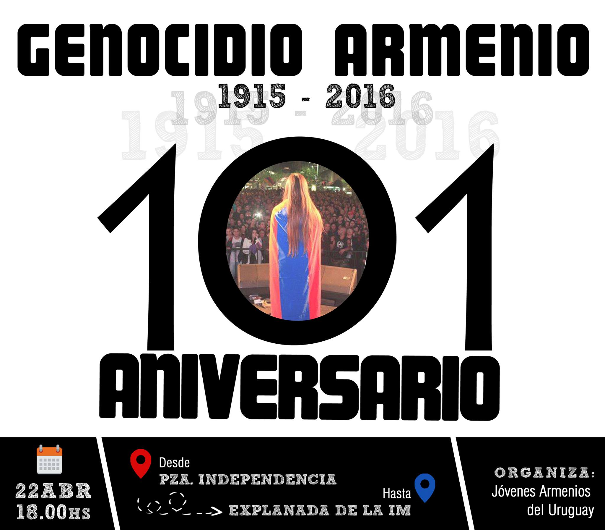 101 Aniversario Genocidio Armenio