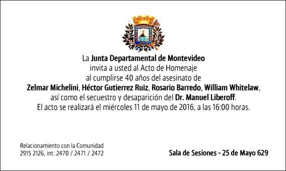 Homenaje Junta Departamental